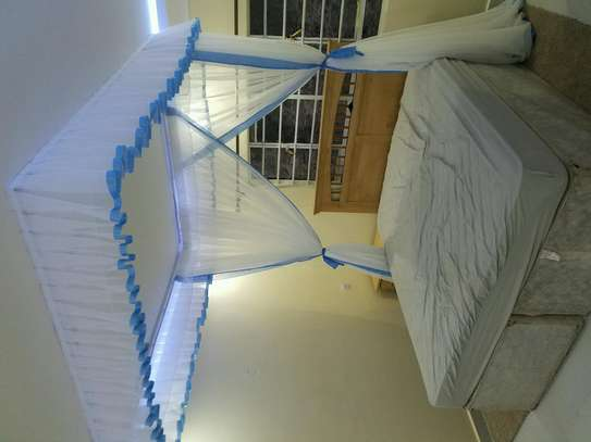 Mosquito Nets Sliding Like Curtains Fixed On The Ceiling image 14
