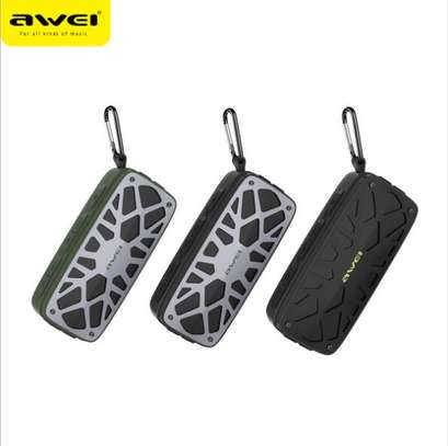 AWEI Y330 Portable Outdoor Wireless Bluetooth Speaker Real Wireless Stereo Card Inserting Dual Units Speaker Bass Subwoofer image 2
