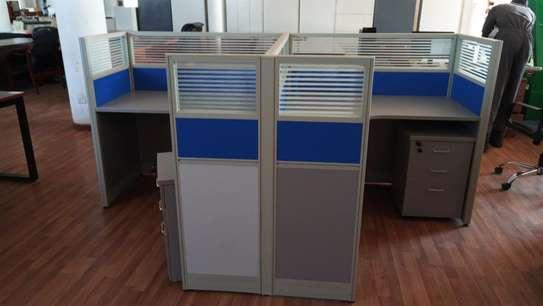 2 Way Workstation Aluminum Office Desk image 1