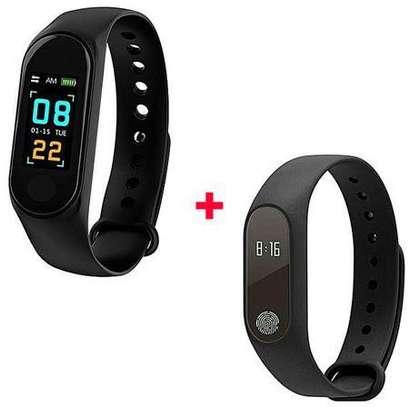 M2 New Smart M2 And M3 Health Wrist Bracelet Heart Rate Monitor -Black image 1