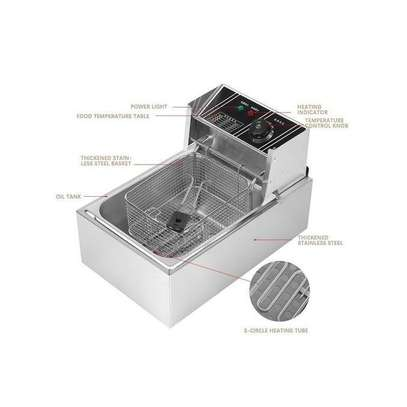 6L 2500W Commercial Stainless Steel Electric Deep Fryer With Basket 220V CN Plug image 2