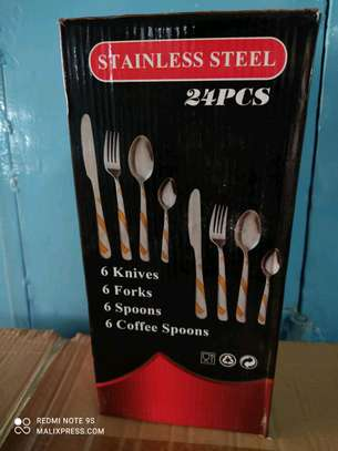 24 stainless cutlery set image 1
