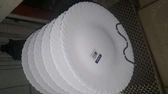 6pc luminarc dinner plates image 1