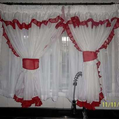 Designed kitchen curtains image 1