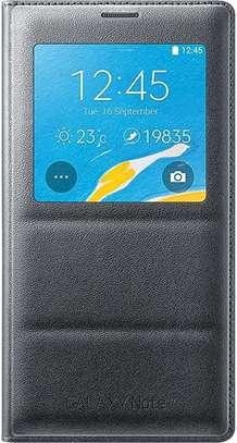 Smart S View Flip Cover Folio Case with Sensor - Samsung  Note 4 Case image 1