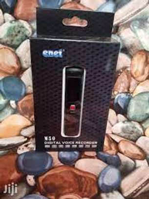 The Enet Digital Voice Recorder M50 uses HD professional audio processing chip, 2 ultra sensitive built-in microphones with quad-core noise reduction image 1