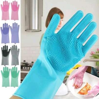 Multifunctional silicon kitchen gloves image 1
