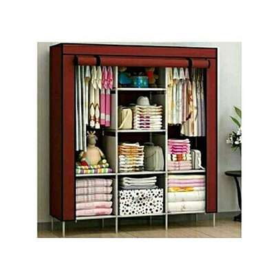 3 COLUMN SOLID WOOD PORTABLE WARDROBE image 5