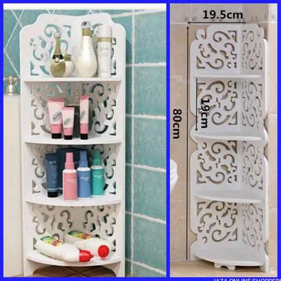 Modern bathroom organizer rack image 1