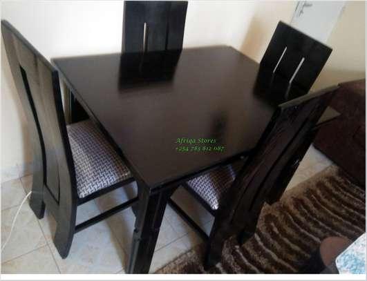 4 seater mahogany dining table image 2