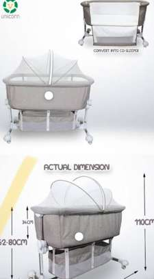 Portable Baby Travel Cot Basinet Side Sleeping Bassinette 110 X 56 X 78cm for 0-24 Months Baby image 3