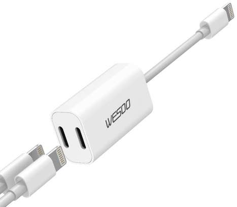 2 IN 1 LIGHTNING ADAPTER AND CHARGER FOR iPhone 7 7+ 8 8 Plus X image 5