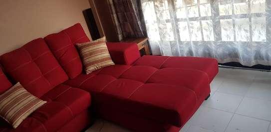 L-Shaped Red Sofa Set image 4