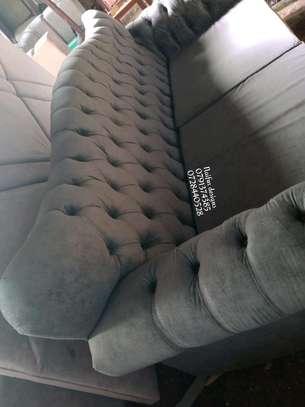 Three seater sofa/grey sofas/buttoned sofas/chesterfield sofas/sofas for three image 3