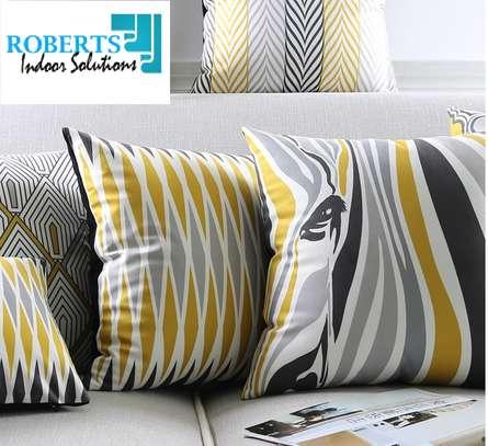 Modern Geometric Mustard yellow throw pillow image 1