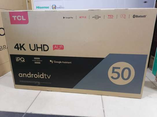Tcl 50 inch smart android 4k uhd TV 50P617 image 1