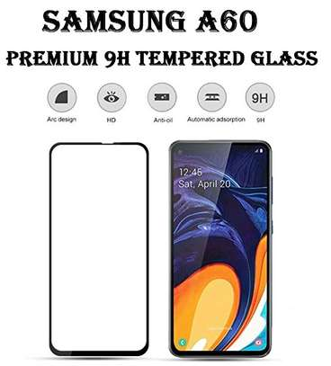 5D HD Clear Tempered Glass Front Screen Protector for Samsung A60 image 2