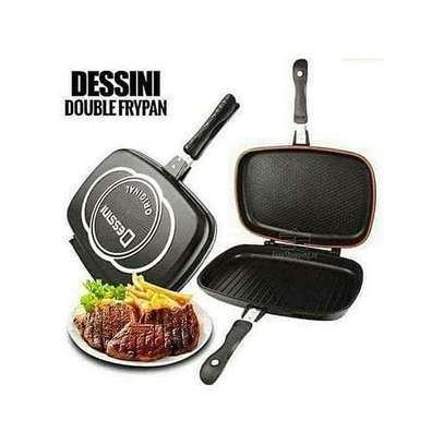 Double Grill Pan /Meat Grill Non Stick 36cm image 1