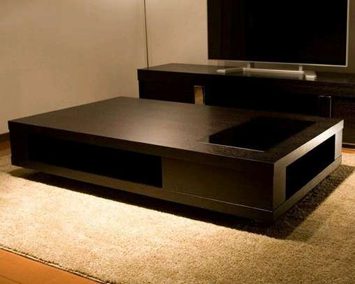 Modern wooden black coffee tables image 1