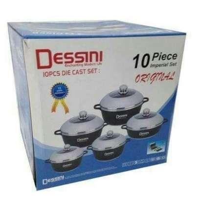 Dessini Non-Stick Cooking Pots Cookware set - 10pcs Dessini Die cast Set image 1