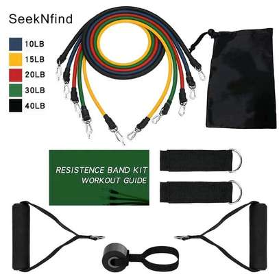 10 in 1 fitness resistance bands image 2