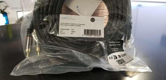 KabelDirekt10m Y-Adapter RCA Subwoofer Cable image 1