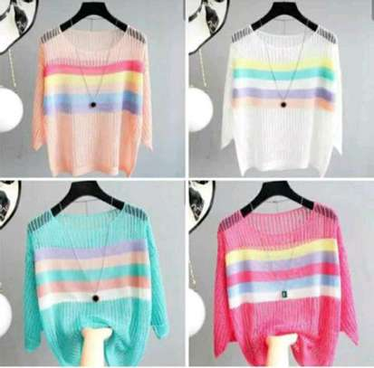 Ladies sweater tops image 1