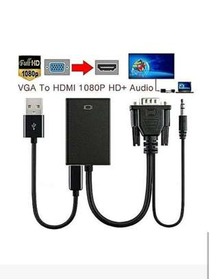 VGA to HDMI converter adapter cable with audio output