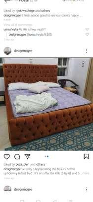 BROWN TUFTED BED IN NAIROBI /MODERN BED IN NAIROBI image 1