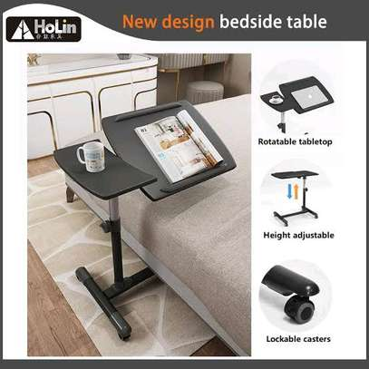 Moveable Sit Stand Adjustable Laptop Table image 1