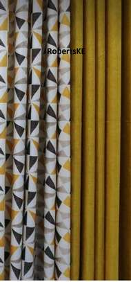 yellow curtains image 1