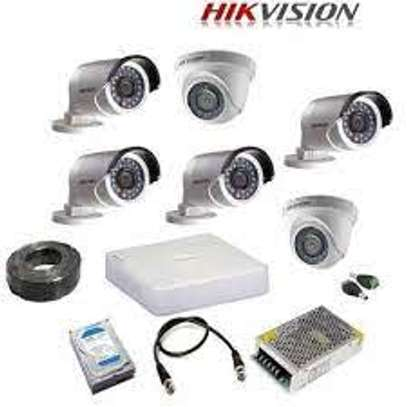 6 HD CCTV Complete Kit (Night Vision +Motion Enabled+100m) image 1