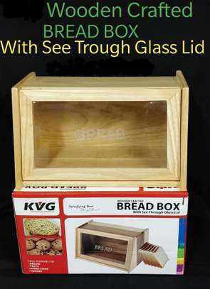 Bread Box*Wooden with Glass Lid*KSh 2600 image 2
