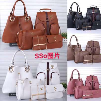 5 in one classic and long lasting leather handbag
