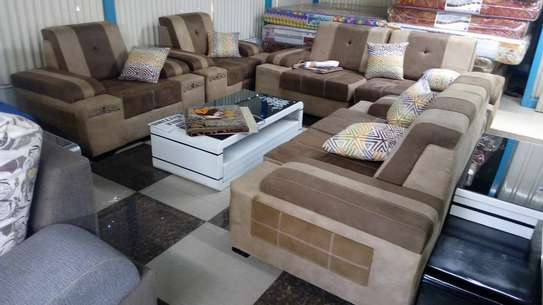 Ready made suede 7 seater sofas image 2