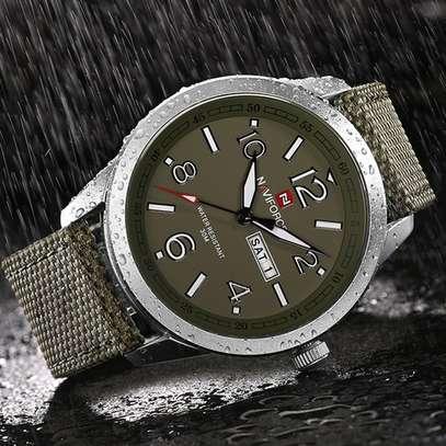 NAVIFORCE brand fashion sport calender watches nylon strap wristwatch watch 30m image 2
