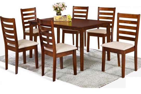 6 Seater Dinning Set Solid Wood image 1
