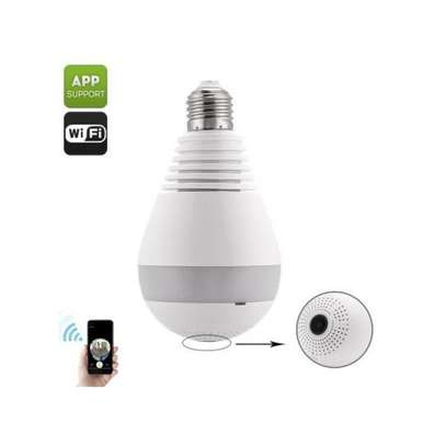 VR CAM Light Bulb Camera Wireless Include 32GB Card 1080P HD 360 Fisheye Security Cam Home LED Light Nanny Cameras Motion Detection & Night Vision for Android/iPhone/Windows