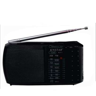 AM/FM Portable Pocket Radio Receiver Hand Strap For Easy Carrying - Black. image 1