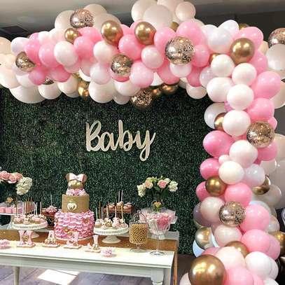 Balloon Arch Garland Decoration services for Baby ShowerWedding Birthday Graduation Anniversary image 1