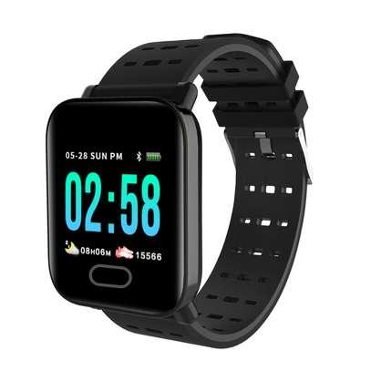 Big Screen Sports Bracelet New Heart Rate Blood Pressure A6 Smart Bluetooth Watch Bracelet image 1