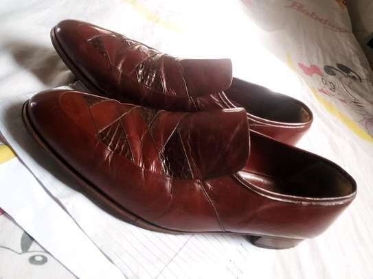 Genuine brown leather official shoes image 2