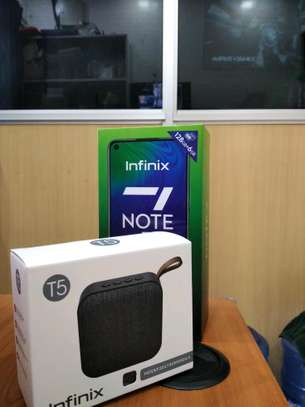 Infinix Note 7 with Free Bluetooth Speaker brand new and sealed in a shop image 2