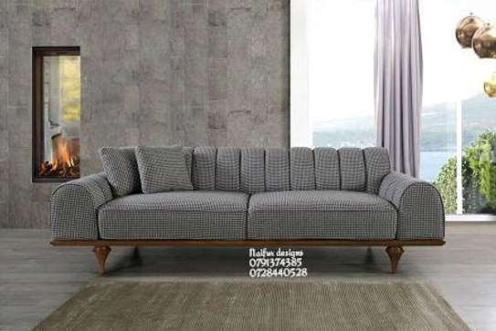 Grey three seater sofa sets for sale in Nairobi Kenya/classic sofa for sale in Nairobi Kenya image 1