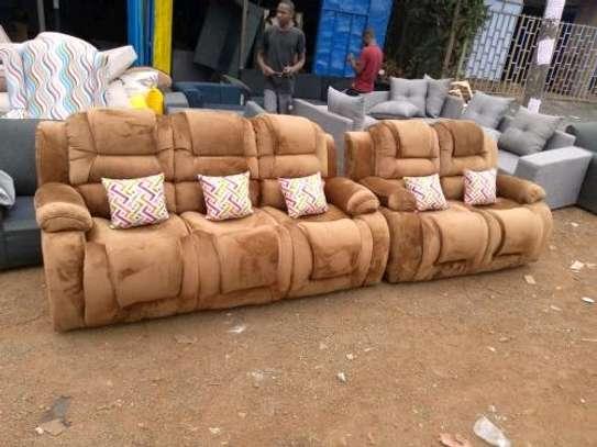 New 3 2 recliner sofa (brown) image 1