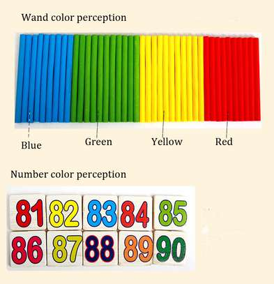 Multifunctional Kids Wooden Math Toys Montessori Early Learning Educational Baby Gift image 4
