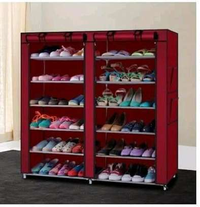 Wooden portable shoe rack image 3