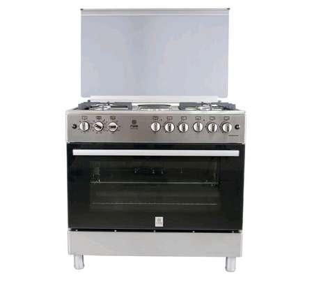 Standing Cooker, 90cm X 60cm, 5GB, Electric Oven, Half Inox image 1