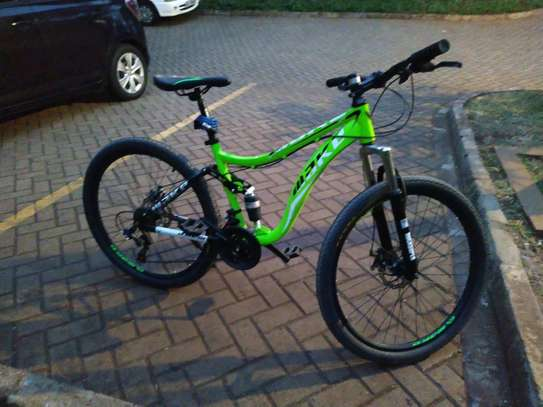 "Luminous green full suspension MAKE  26"" inch  bike/ BICYCLE"