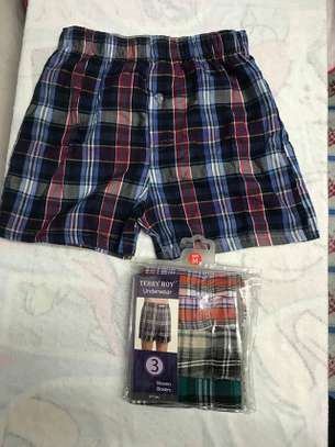 Checked Boys boxers for sale a pack of 3 at 750kshs